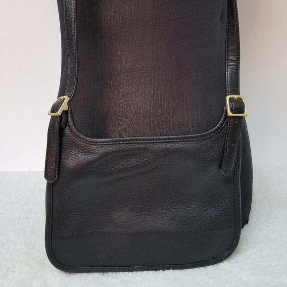 Giani Bernini Handbags - Giani Bernini Genuine Black Leather Crossbody Bag